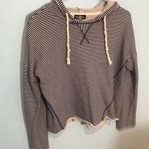 (4/$15) Freshman navy and white striped hoodie